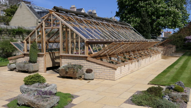Royal Botanic Garden Edinburgh traditional alpine house