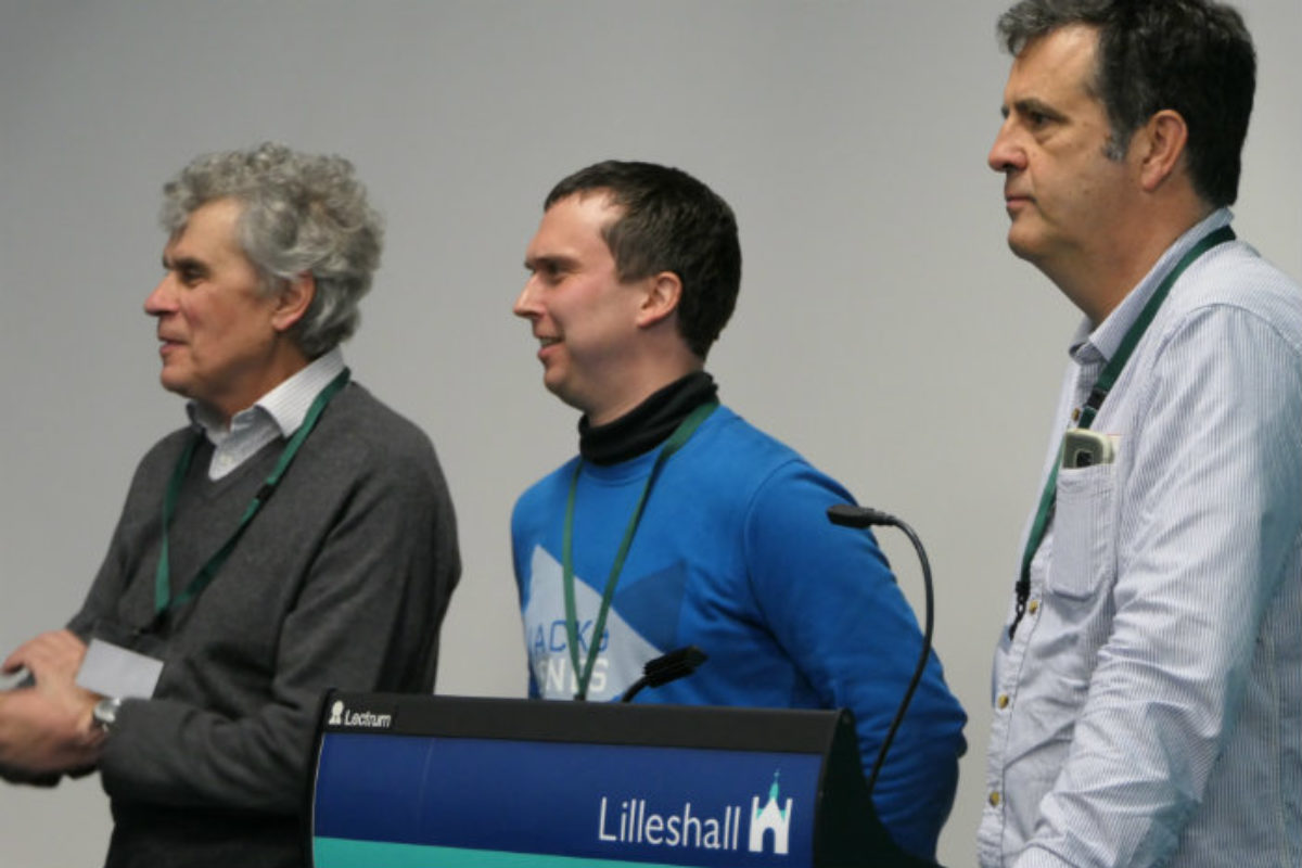 Our Snowdrop Day speakers: David MacLennan, Wim Boens and Andy Byfield.