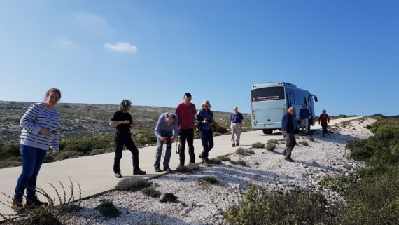 AGS grant students Peloponnese tour 2018