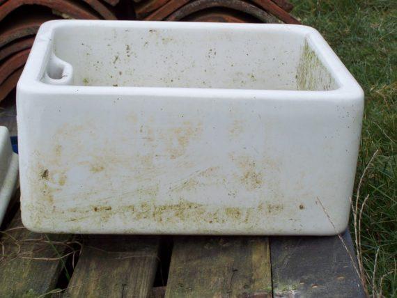 Old glazed sink