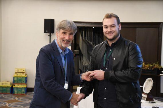 Alex O'Sullivan receives his Bronze Medal