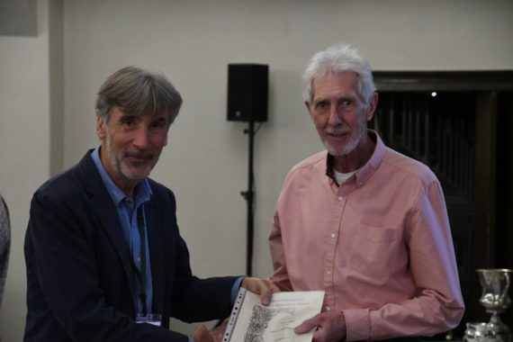 Chris Lilley receives his Farrer Medal certificate