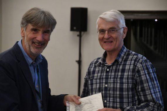 Jim McGregor receives his Farrer Medal certificate