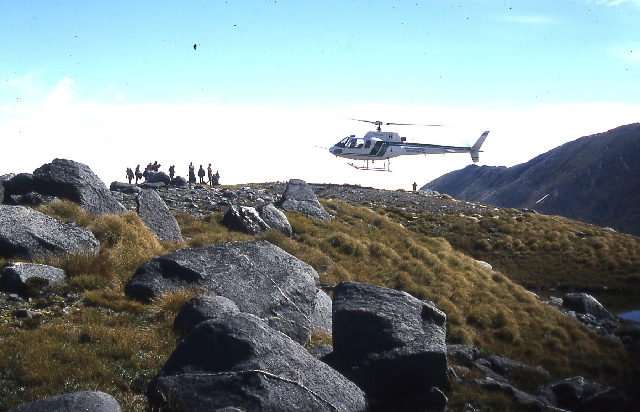 Helicopter to Mount Burns