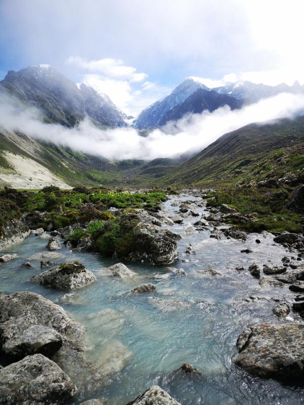 Grey Lake, Sichuan, China by Mark Matthews